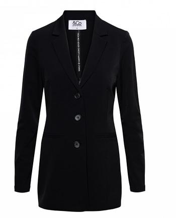 Piler blazer long black