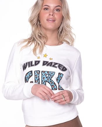 Wild dazed girl sweater