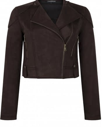 Jacket cropped suedine